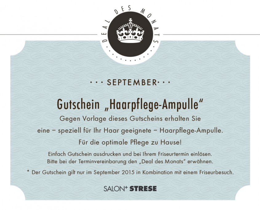 Friseur Salon Strese Deal September 2015