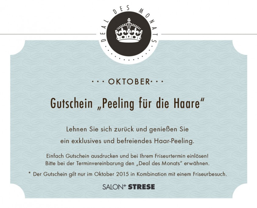 Friseur Salon Strese Deal Oktober 2015